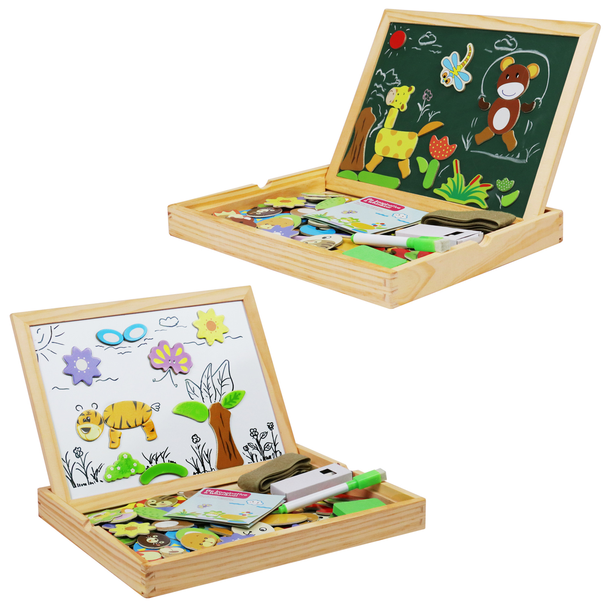 becko toddler magnetic jigsaw puzzle board wooden educational toys