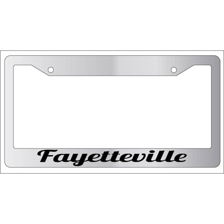 Fayetteville Chrome Plastic License Plate Frame City - Party City Fayetteville