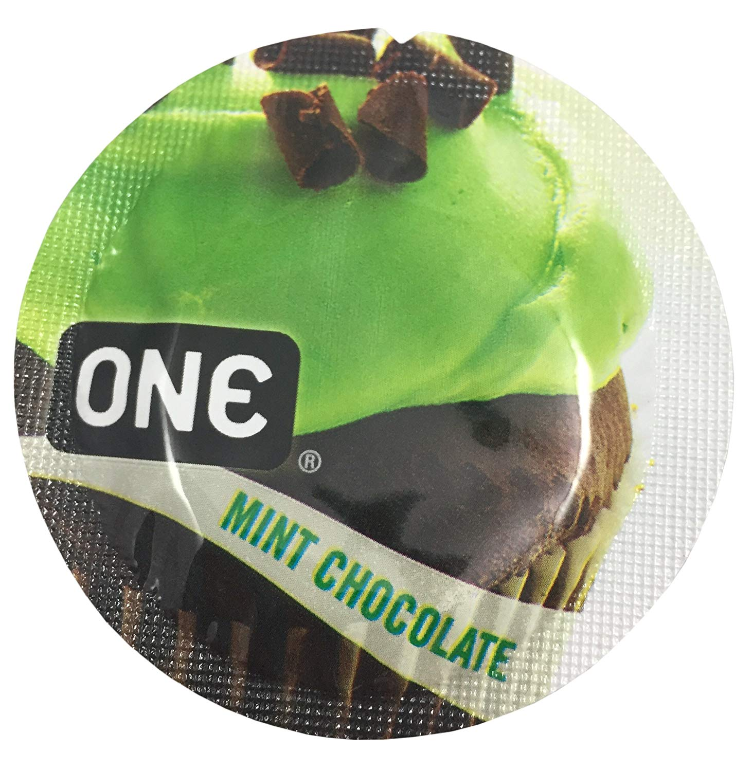 ONE Mint Chocolate + Silver Pocket Case, Flavored Lubricated Latex Condoms-24 Count