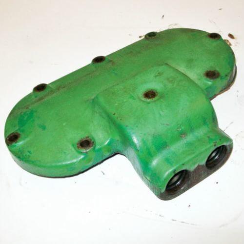 Engine Oil Cooler Cover, Used, John Deere, R50421