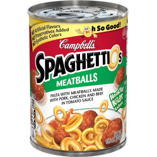 Campbell's SpaghettiOsCanned Pasta with Meatballs, 15.6 oz.Can
