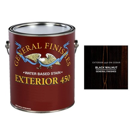 General Finishes, EXTERIOR 450 STAINS, Black Walnut, Quart