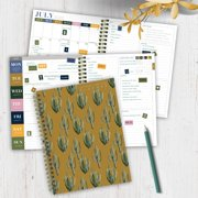 """July 2020 - June 2021 Mustard Cactus Medium 6""""x8"""" Daily Weekly Monthly Planner"""