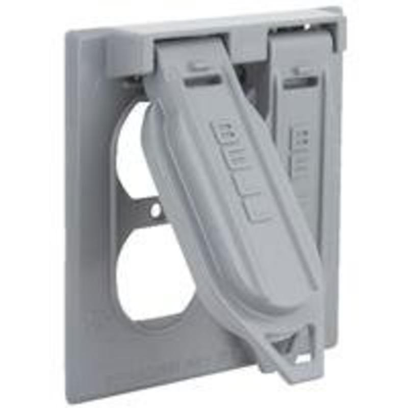 Weatherproof Electrical Cover, Gray Outdor Switch Cover Hubbell Outlet Boxes