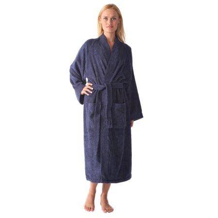 Women's Long Kimono Style Turkish Cotton Terry Cloth Bathrobe ()