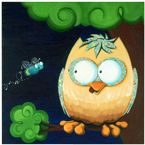 "Trademark Fine Art ""Owl"" Canvas Art by Sylvia Masek"