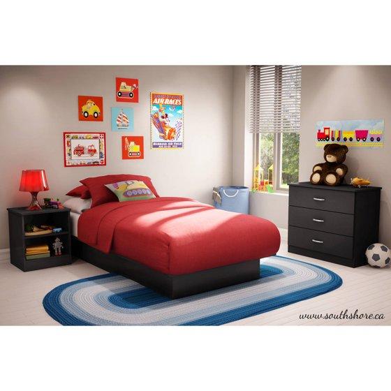 South Shore Logik 4 Piece Pure White Twin Kids Bedroom Set: South Shore Smart Basics Bedroom-in-a-Box, Multiple