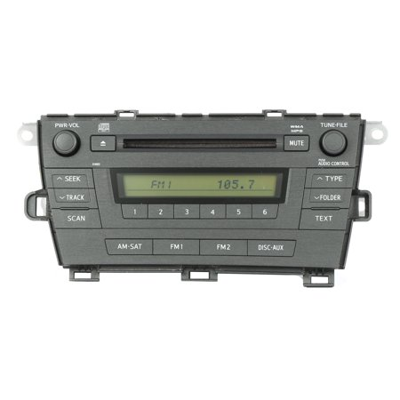 2010-2011 Toyota Prius AM FM Radio mp3 CD Part Number 86420-47290 Face ID 51883 - Refurbished