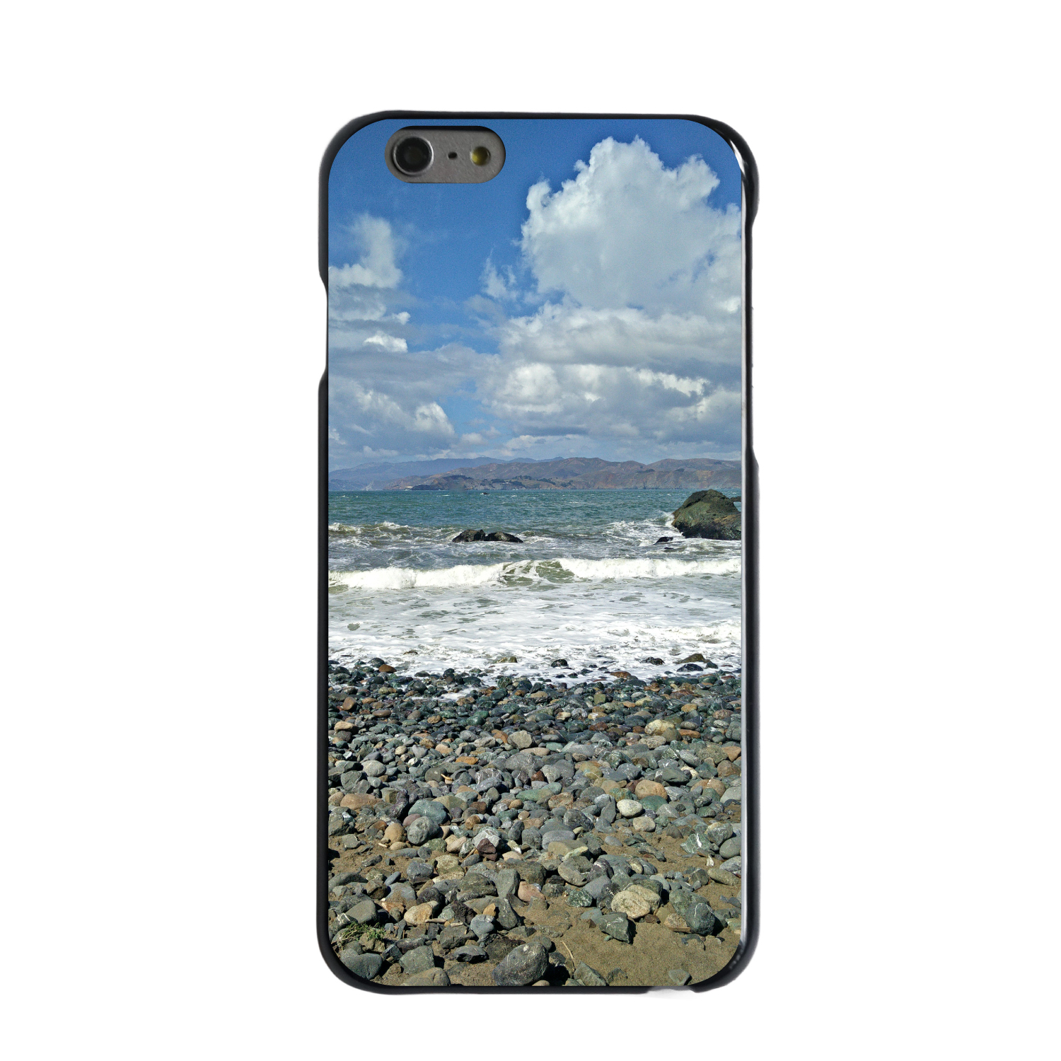 "CUSTOM Black Hard Plastic Snap-On Case for Apple iPhone 7 PLUS / 8 PLUS (5.5"" Screen) - Land's End Pebble Beach"