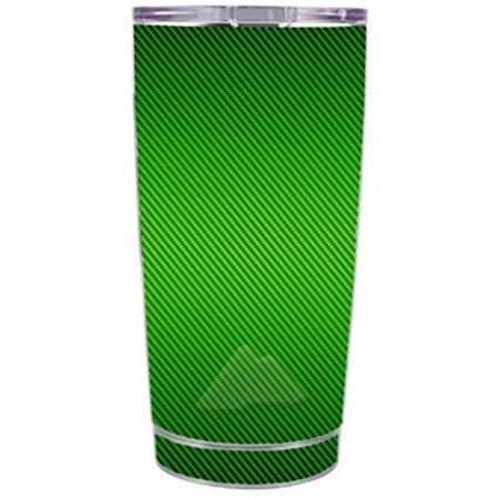 Skin Decal Vinyl Wrap for Ozark Trail 20 oz Tumbler Cup (5-piece kit) Stickers Skins Cover / Lime Green carbon fiber graphite