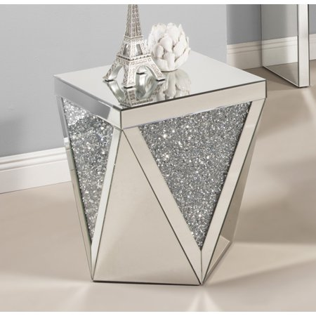 Best Quality Furniture Mirrored End Table CT51