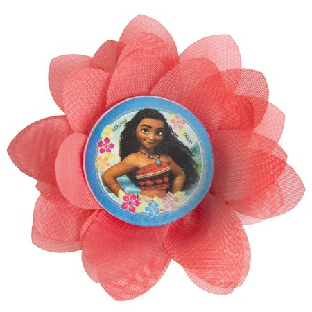 Disney Moana Flower Hair Clip Party Favors, 4ct