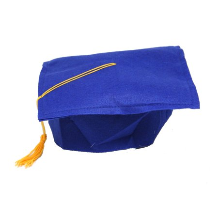 Blue Felt Graduation Cap - Tiny Graduation Cap