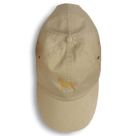 Pharaoh Hound Embroidered Baseball Cap - Pharoah Hat