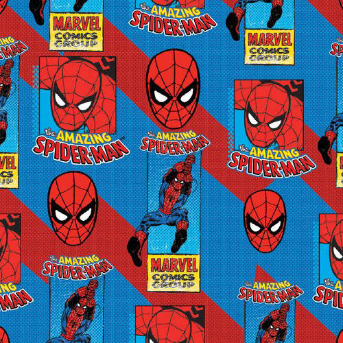 Spiderman 100% Cotton Fabric For Quilting And Crafting Officially Licensed From Marvel by Eugene Textiles