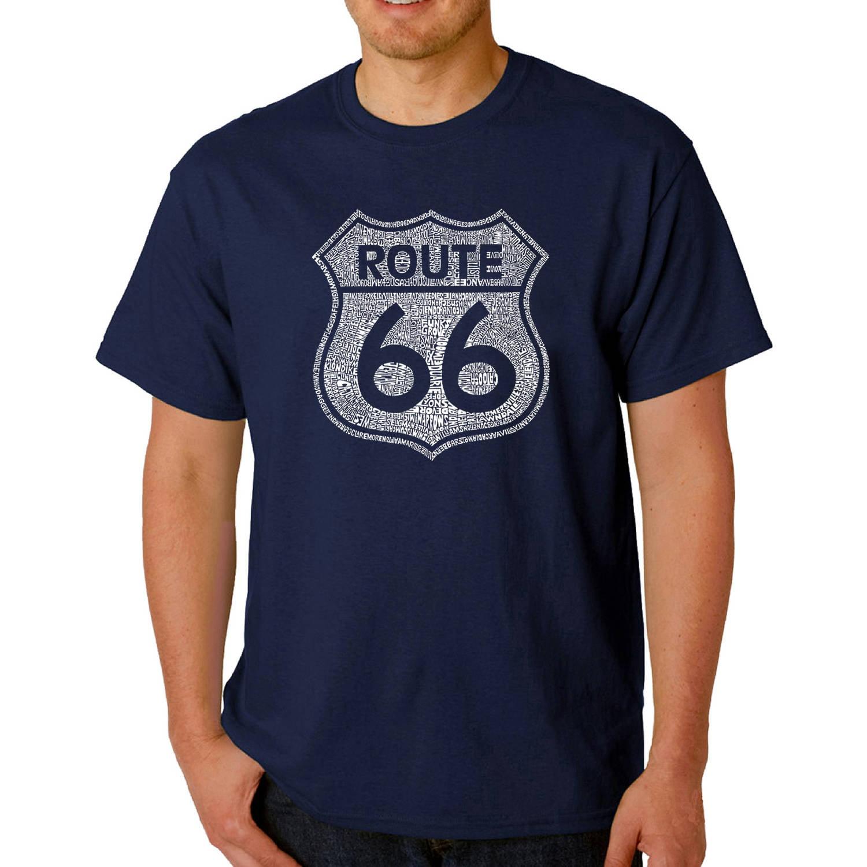 Los Angeles Pop Art Big Men's T-shirt - Cities Along the Legendary Route 66