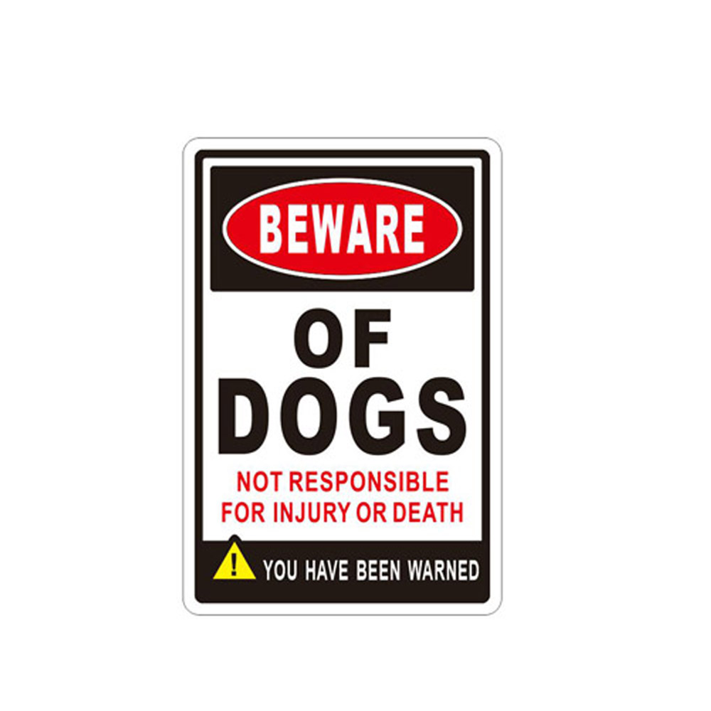ALEKO Aluminum Beware of Dog Sign - Not Responsible for Injury or Death