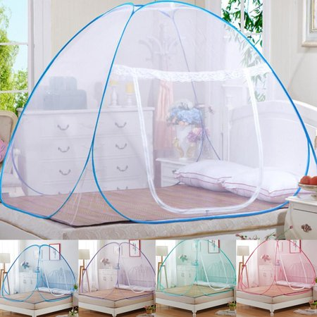 Meigar Pop-Up Mosquito Net Tent for Beds ,Anti Mosquito Bites folding design with net bottom for babys adults trip (150cm180cm200cm)