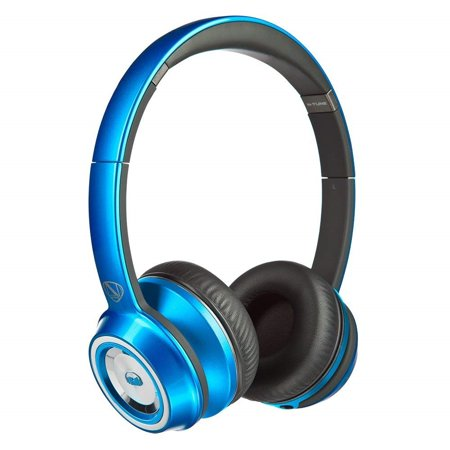 Monster N-Tune High Performance On-Ear Headphones w/3.5mm Plug (Candy Blueberry)