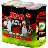 Penn Championship Regular Duty Tennis Ball Pack (6 Cans, 18 Balls)