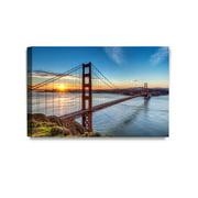 "DecorArts - Golden Gate Bridge, San Francisco, Califonia. Giclee Canvas Prints for Wall Decor. 30x20""x1.5"""