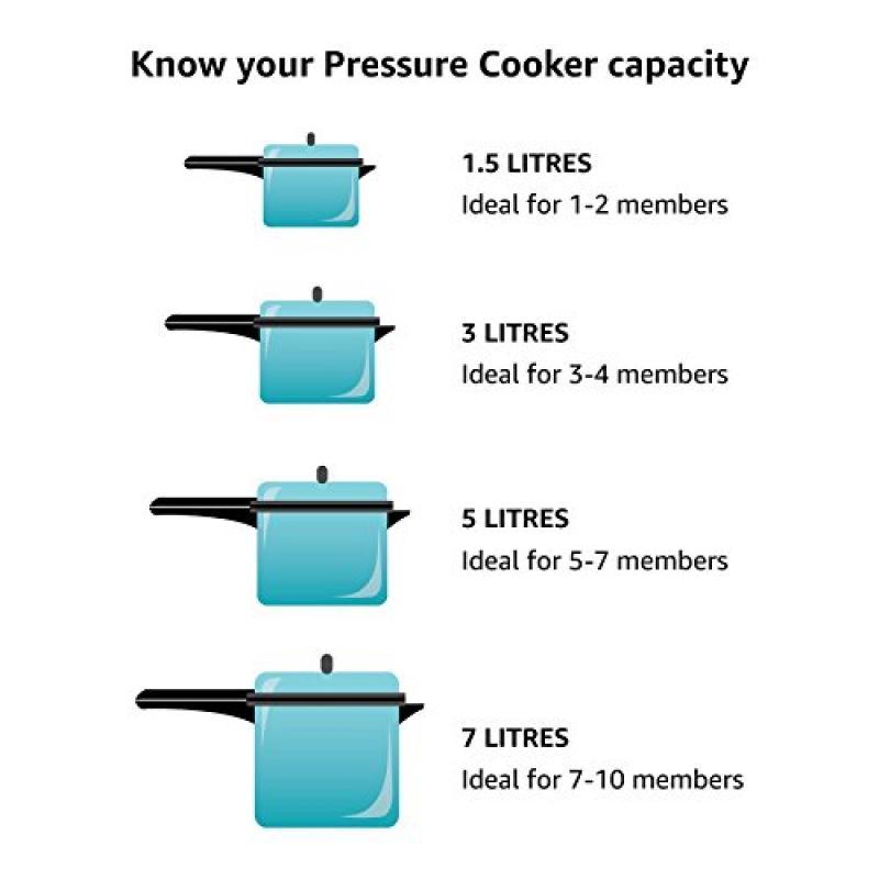 Saral Pressure Cooker Innerlid - 5 Ltr. Induction Base