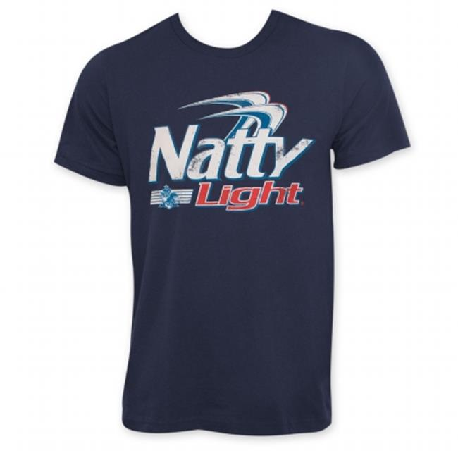 Natural Light 24921L Natty Light Classic Logo Mens Navy Blue T-Shirt, Large