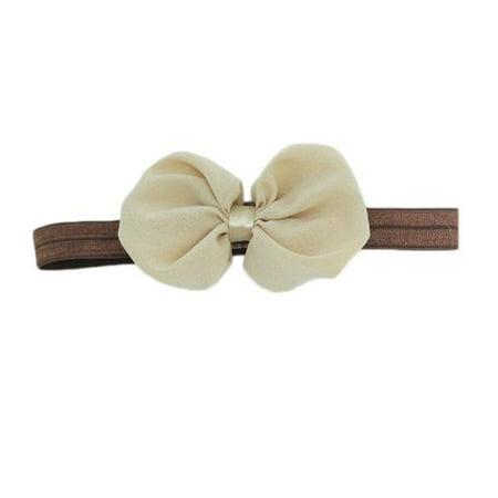 KABOER 3 Pcs Sweet Babys Girls Chiffon Flower Bow Headband - Beauty Blue Flower