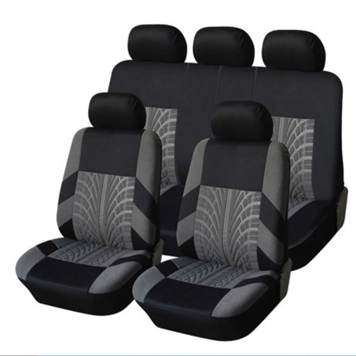 Tiger Print grade 1 Pair of Front Furry Seat Covers for Cars with Head Rests