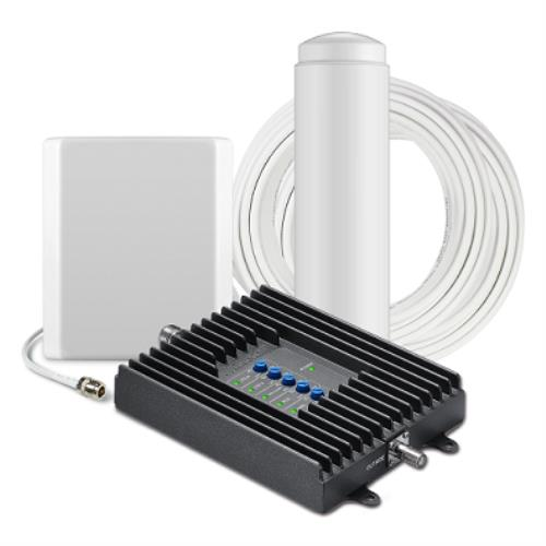 SureCall Fusion4Home Omni/Panel, Cell Phone Signal Booster Kit for All Carriers 3G/4G LTE up to 3,000 Sq Ft.