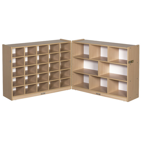 ECR4Kids 36'' Fold & Lock Storage Cabinet with 25 Tray