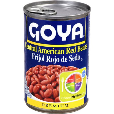 Goya Goya  Red Beans, 15.5 oz (Red Beans And Rice Recipe Vegetarian Canned Beans)