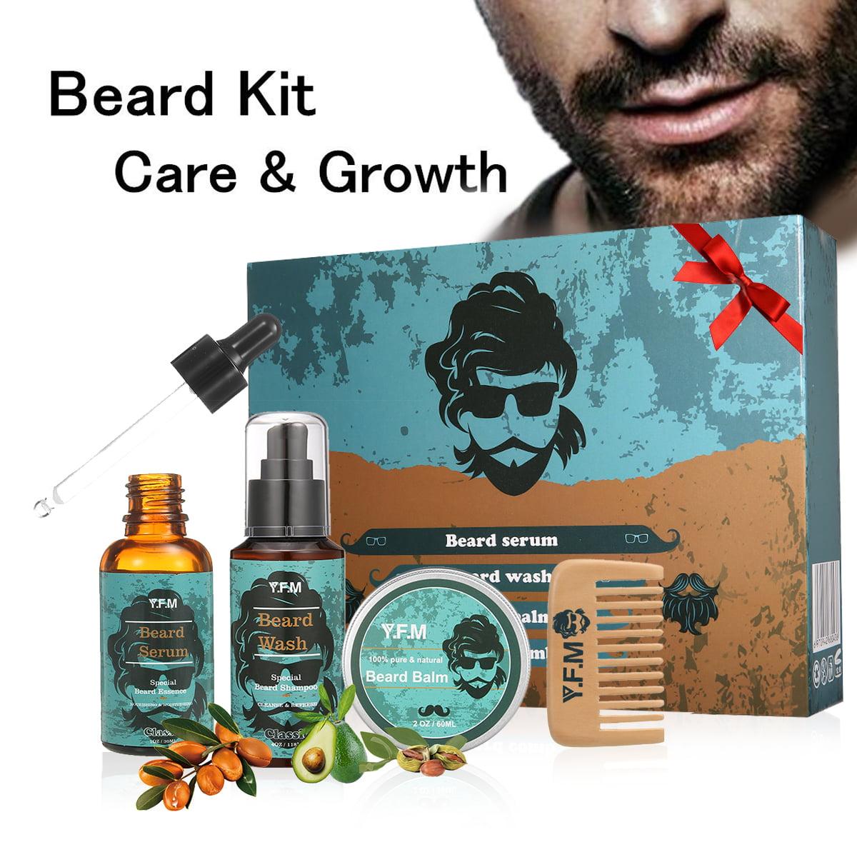 Beard Care Kit, Great for Dry or Wet Beards, Beard Kit Includes: Beard  Shampoo + Beard Oil + Beard Balm + Beard Comb, Beard Gift Set Best Gift for