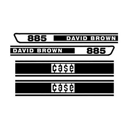 Tractor Decal Set - DB885 Hood Decal Set Made For Case - David Brown Tractor 885