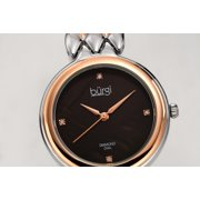 Burgi Womens Mother of Pearl Dial Two Tone Stainless Steel Diamond Watch [BUR193TTR]
