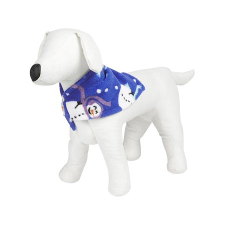 Family PJs Snowman Holiday Dog Costume Blue S/M