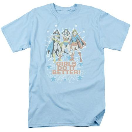 DC Comics Wonder Woman Batgirl & Supergirl Girls Do It Better Adult T-Shirt Tee - Super Girl Tshirt