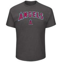 Men's Majestic Charcoal Los Angeles Angels Bigger Series Sweep T-Shirt