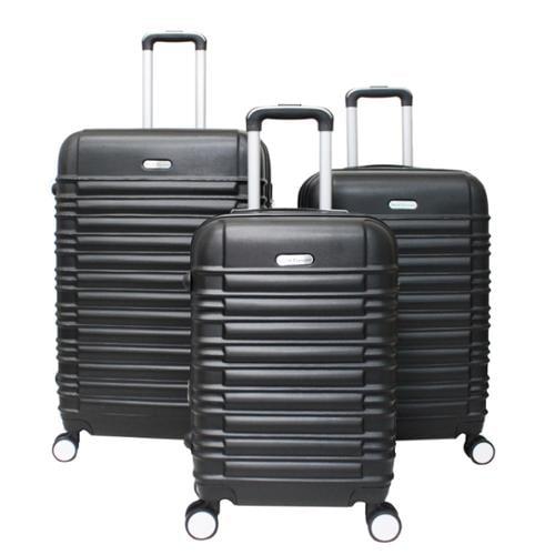 World Traveler California 3-piece Lightweight Hardside Expandable Spinner Luggage Set Black