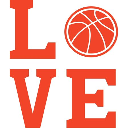 Basketball Locker Decorations (Love Balls Basketball Team Sports Customized Wall Decal - Custom Vinyl Wall Art - Personalized Name - Baby Girls Boys Kids Bedroom Wall Decal Room Decor Wall Stickers Decoration Size)
