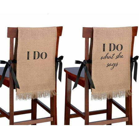 Fine I Do Burlap Chair Covers Pabps2019 Chair Design Images Pabps2019Com