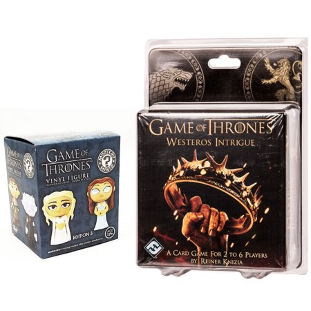 Game of Thrones: Westeros Intrigue Card Game + Funko Game of Thrones Mystery Minis Set Exclusive Blind Box Vinyl Figures Edition pack (Intrigue Game)