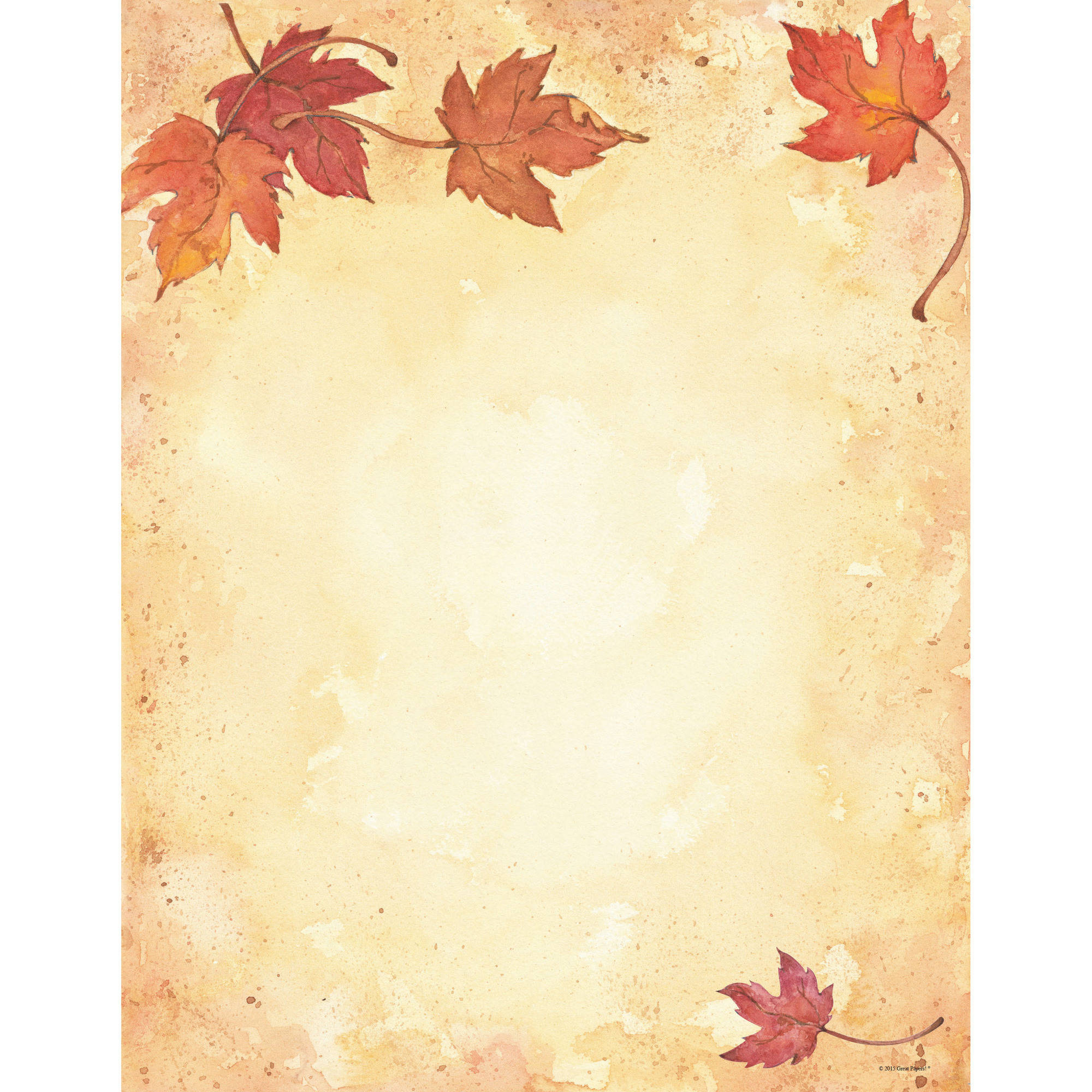 great papers  fall leaves letterhead  80ct