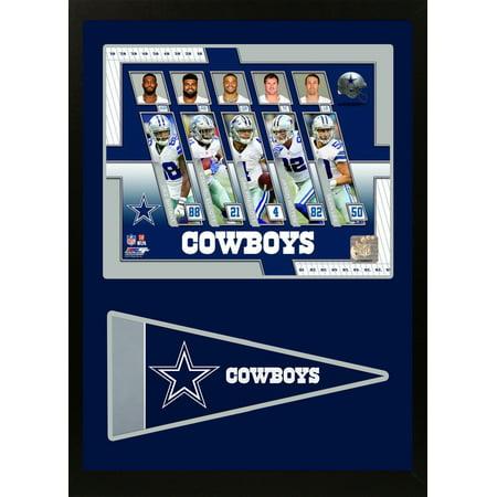 11x14 Pennant Frame - 2017 Dallas Cowboys - Pennant Frames