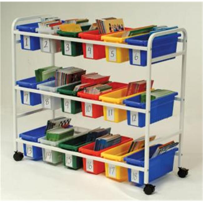 Copernicus Educational Product - BB005-18 - Cart Leveled Reading Book Browser - 18 Tubs