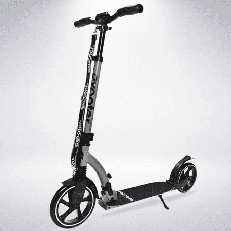 EXOOTER M6GR Manual Adult Kick Scooter With Dual Suspension Shocks And 240mm/200mm Big Wheels In (Shooters Usa)