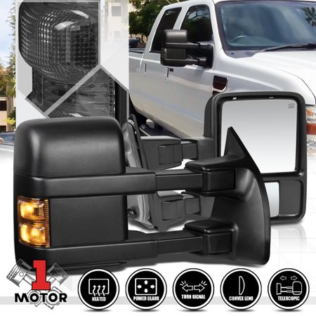 [Pair]Power+Heated LED Signal Towing Side Mirror for 08-16 Ford F250 Super Duty 09 10 11 12 13 14 15