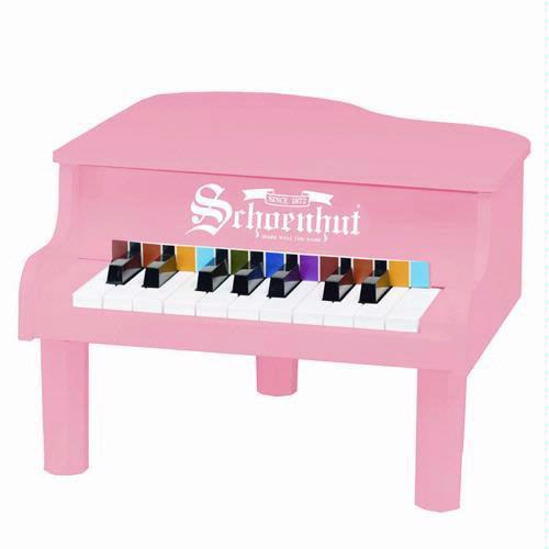 18 Key Mini Grand Piano - Pink