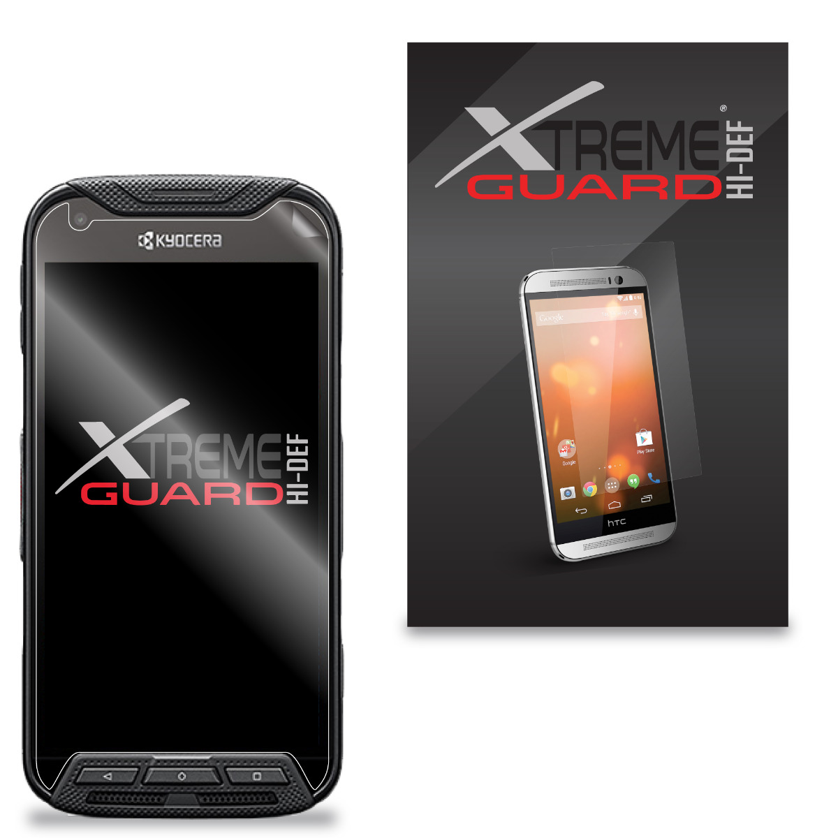XShields© High Definition (HD+) Screen Protectors for Kyocera Duraforce Pro (Maximum Clarity) Super Easy Installation [5-Pack] Lifetime Warranty, Advanced Touchscreen Accuracy