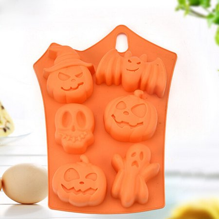 No Bake Halloween Food Ideas (Creative Happy Halloween Silicone Pumpkin Cake Silicone Mold Kitchen Bake)